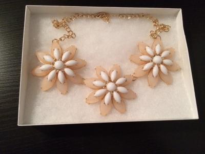 Rosemary Trio Floral Bib Necklace
