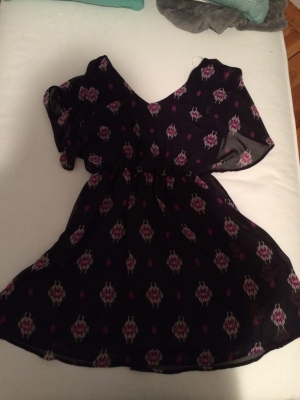 Tatiana Ikat Print Dolman Sleeve Dress