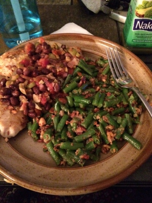 tilapia and green beans