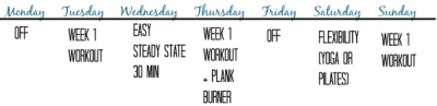 Winter Shape Up - Week 1