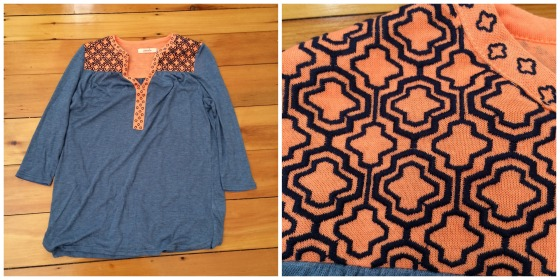 blue and orange shirt