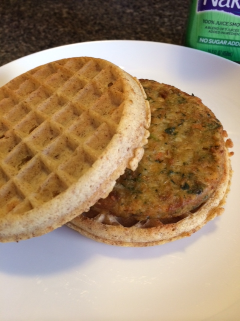 Waffle Chickpea Burger Sandwich