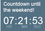 weekend countdown