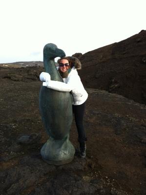 bird statue iceland