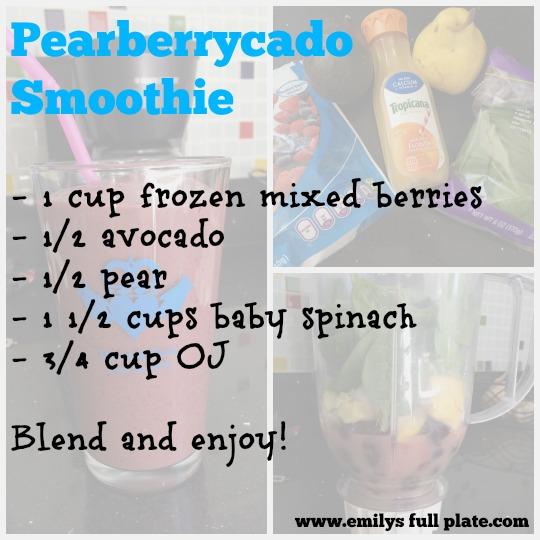 pearberrycado smoothie