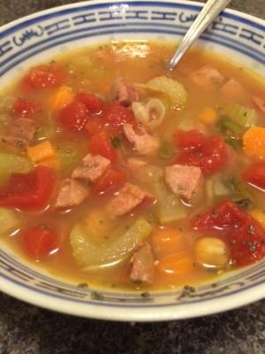 scalding soup