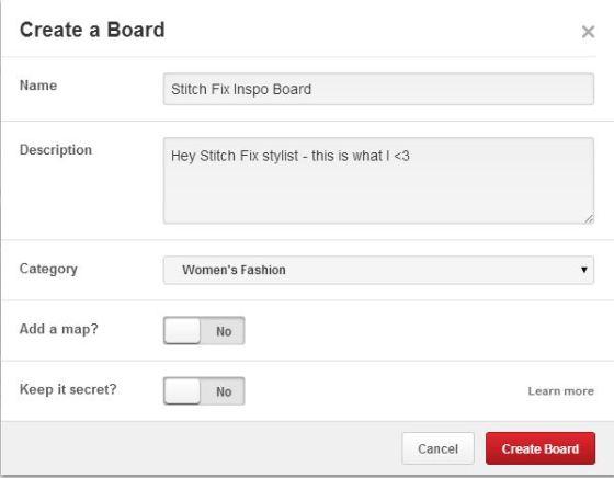 Stitch Fix inspo board