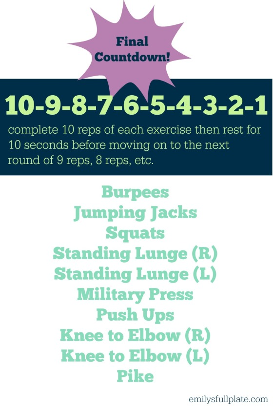 final countdown workout