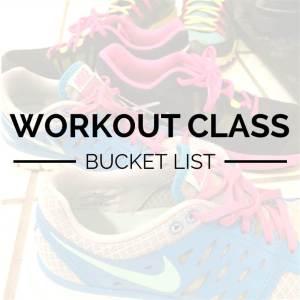 workout class bucket list