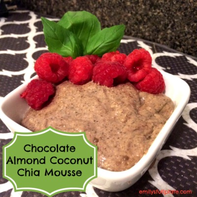 Chocolate Almond Coconut Chia Mousse