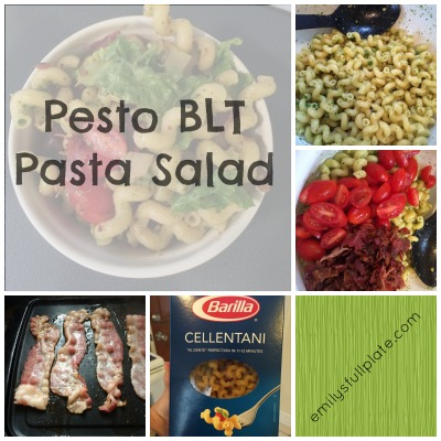 Pesto BLT Pasta Salad
