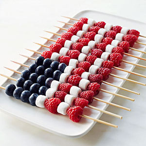fruit kabob flag