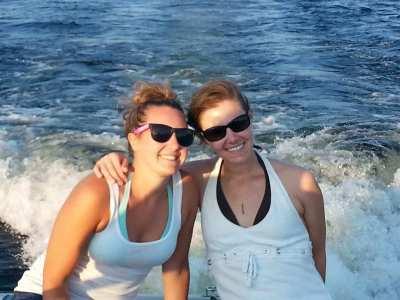 Lindsay and me