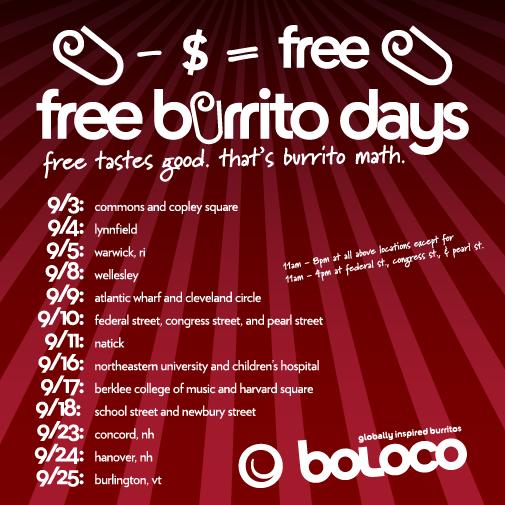 Free Burrito Days