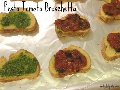 Pesto Tomato Bruschetta