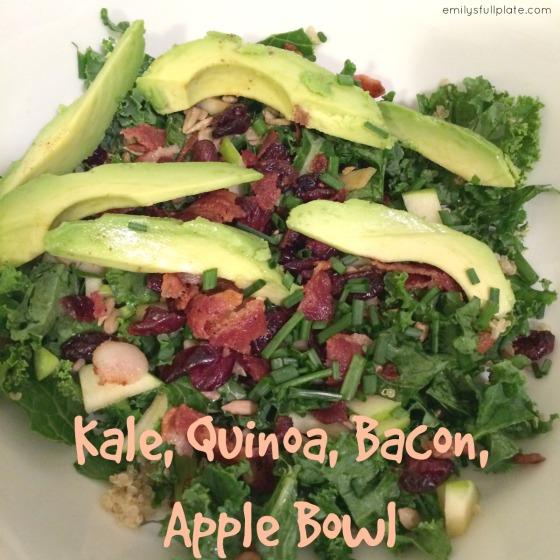 Kale, Quinoa, Bacon, Apple Bowl