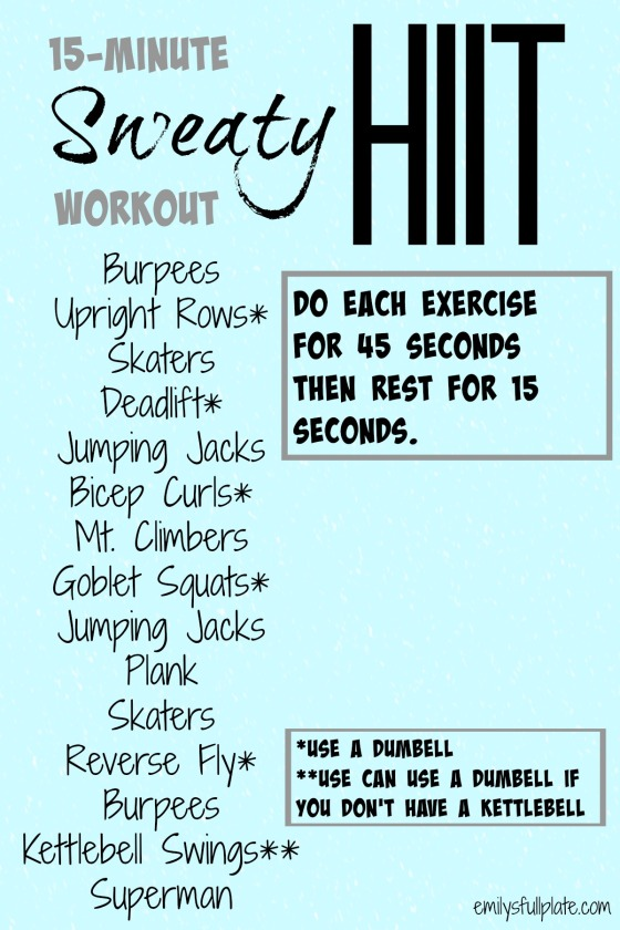 15-minute sweaty HIIT workout