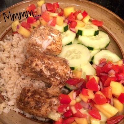 Fish, Mango Salsa