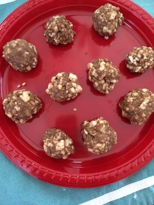 rice cake protein balls