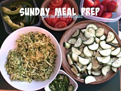 Sunday meal prep - veggies