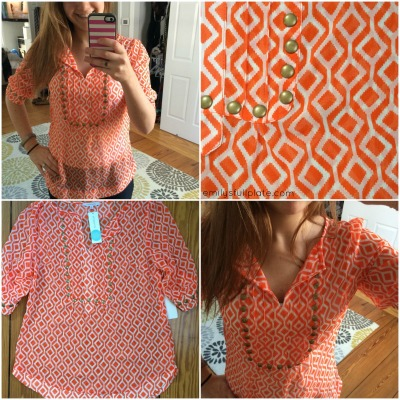 Moni Geo Print & Camisole Blouse by 41Hawthorn