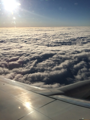 plane clouds