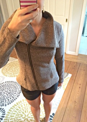 Skylar Asymmetrical Knit Zip Up Jacket