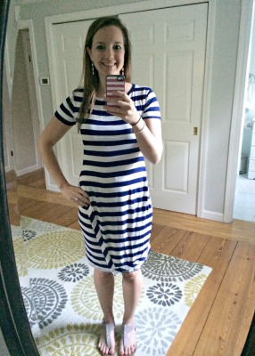 Zola Asymmetrical Striped Dress